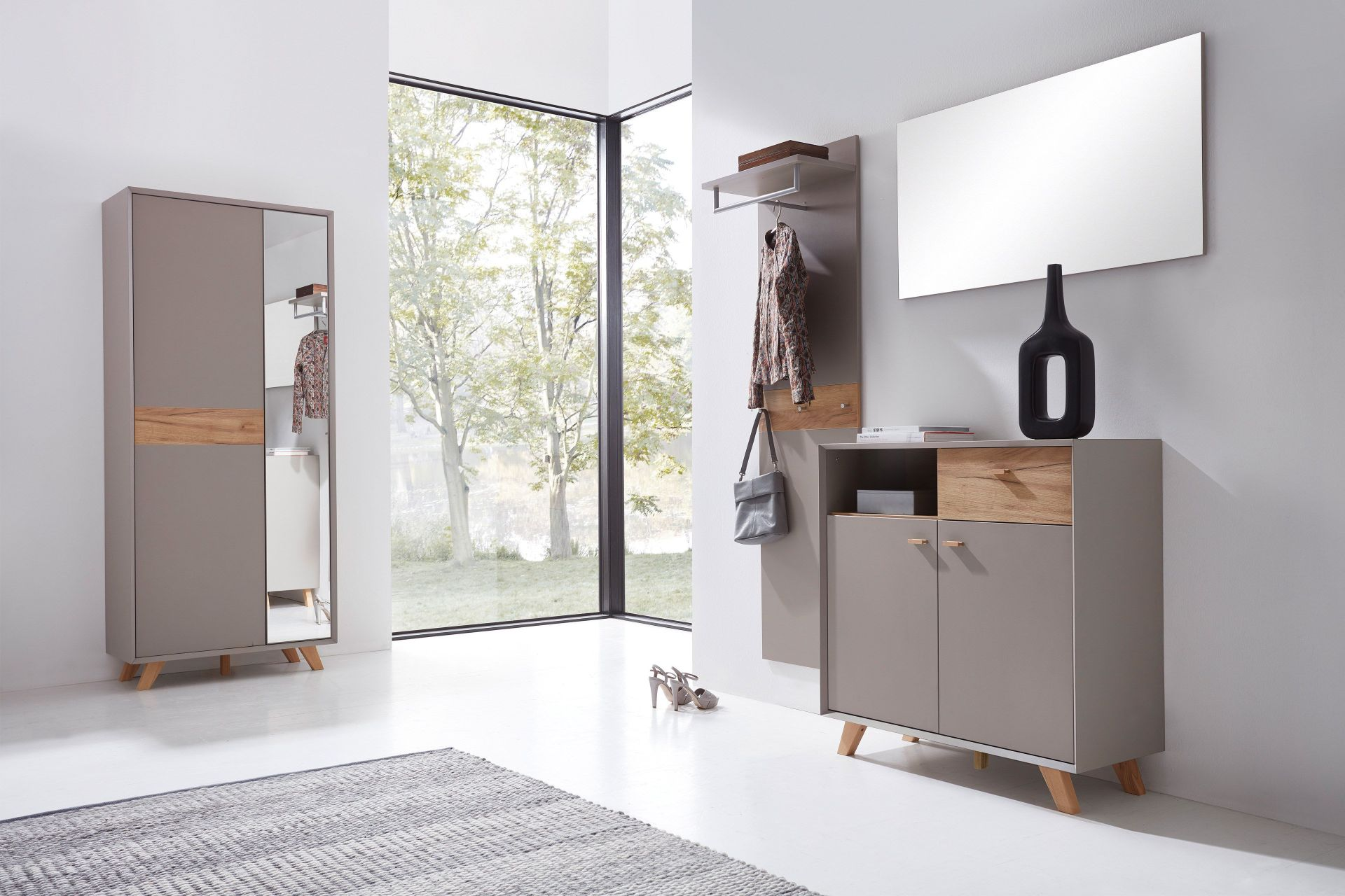 Germania_Calvi-wardrobe-Steingrau-oak, 3-piece