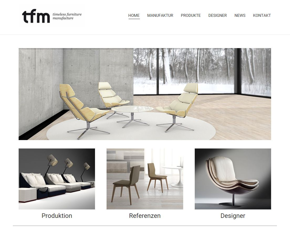 TFM<br>timeless furniture manufacture